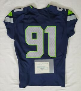 Seattle-Seahawks-Blank-91-Team-Issued-Home-Jersey-with-COA-SA-09322