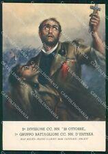 Militari Fascismo Ufficio Storico Milizia Eritrea RIFILATA FG cartolina XF4025