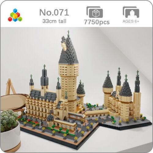 YZ Architecture Medieval Castle College Model Mini Diamond Blocks Building Toy