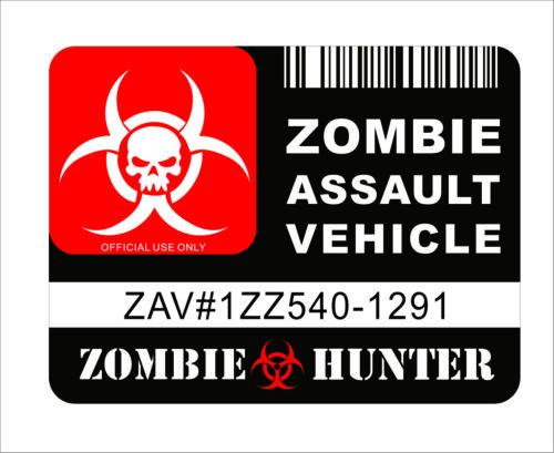 3M Graphics Zombie Assault Vehicle License Sticker Decal Vinyl Car Door Window