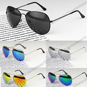 Classic-Pilot-Sunglasses-Metal-Frame-Mirror-Lenses-UV400-Womens-Mens