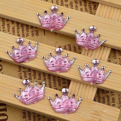 DIY 30PCS resin crown Bead Flat Back Scrapbook Craft Flatback beads D287-1