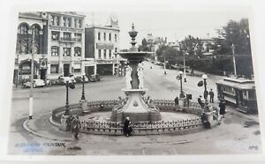 c1930s-1940s-VALANTINE-039-S-REAL-PHOTO-POSTCARD-ALEXANDRA-FOUNTAIN-BENDIGO