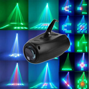 Music-Active-RGBW-LED-Lights-Laser-Stage-Effect-Lighting-Club-Disco-DJ-Party-Bar
