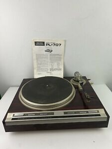 Vintage-Pioneer-PL-707-Direct-Drive-Turntable-Tested-Needs-Service-Read-Manual