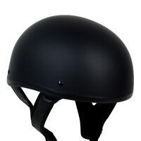 Matte Black Pgr B03 Skid Lid Dot Approved Motorcycle Half Helmet Chopper Harley