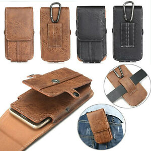 Universal PU Leather Case Card Pouch Bag Belt Clip Loop Holster For Smart Phone