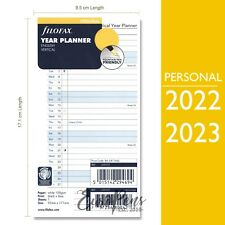 Filofax 2022 2023 Personal Vertical Year Diary Planner Insert Refill 68402