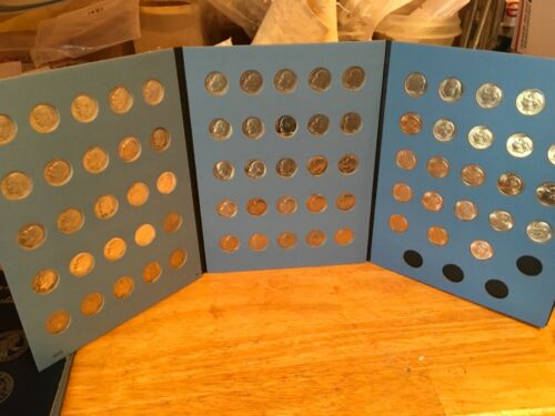 Date Set Dimes 1946-2020 in Coin Folder; Year COMPLETE Set Silver//Clad  Roos