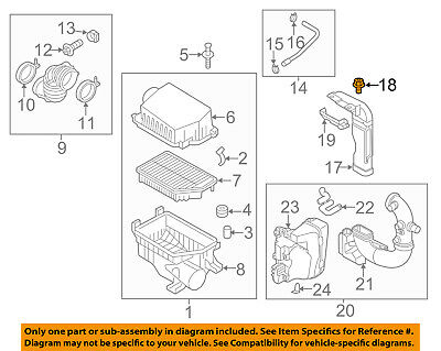 KIA OEM 12-15 Rio Air Cleaner Intake-Duct Tube Hose Assy 282111W150