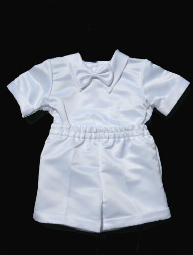 XL Sz: S 2T,3T,4T Boys  Infant Toddler Christening Baptism White Outfit L M