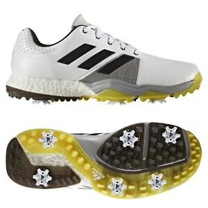 Details about adidas ESSENTIALS ADIPOWER BOOST 3 GOLF SHOES WHITE TRAINERS MEN'S NEW
