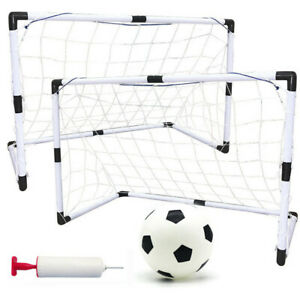 2pcs-Portable-Soccer-Goal-Net-Frame-Backyard-Football-Training-Set-Football