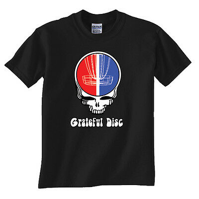 Grateful Disc Golf T Shirt Frisbee Golf tshirt tee Funny Parody
