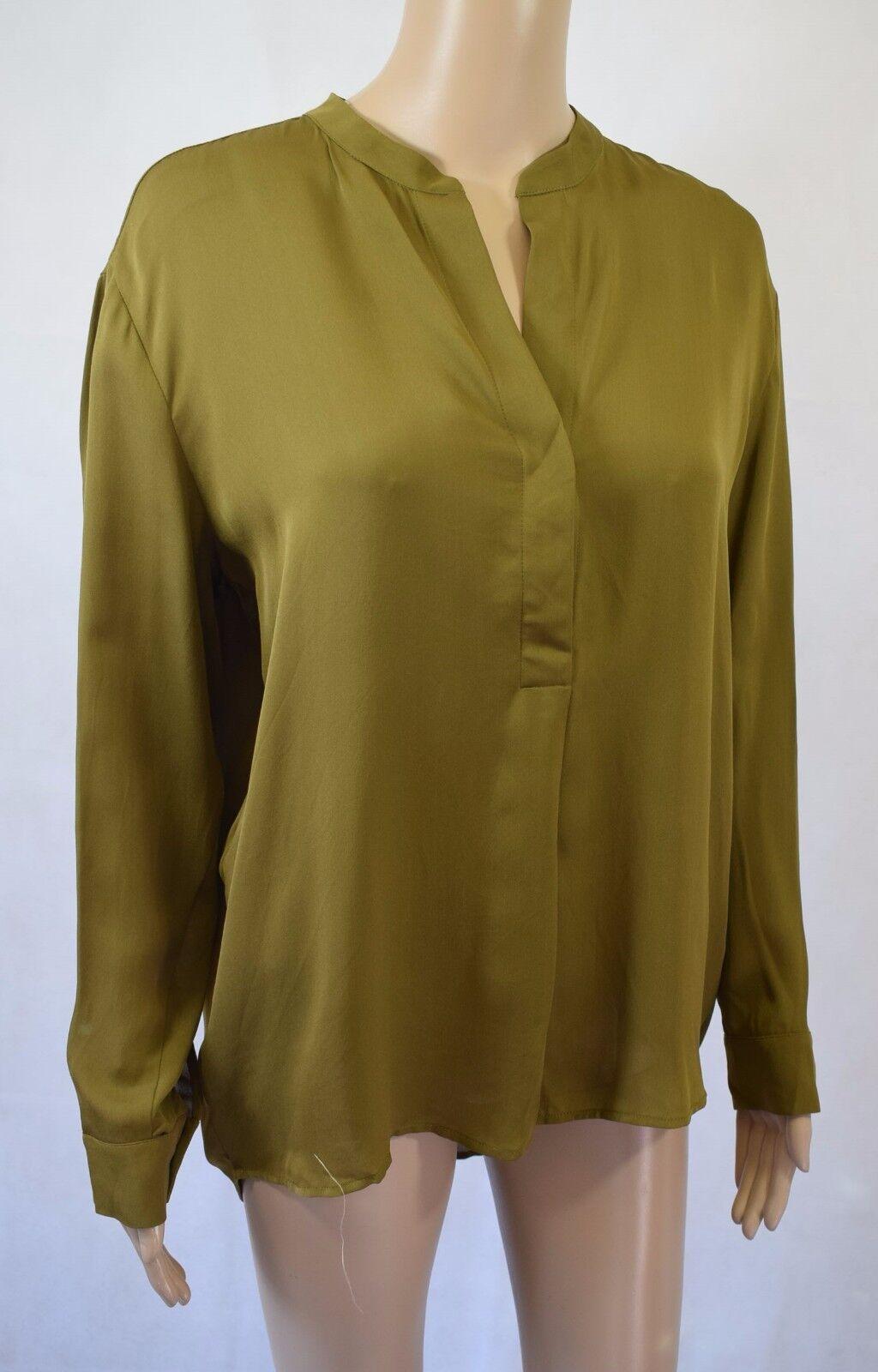 BNWT Samsoe & Samsoe Silk Waddi Shirt In Fir Grün - Größe M - RRP   (R103)