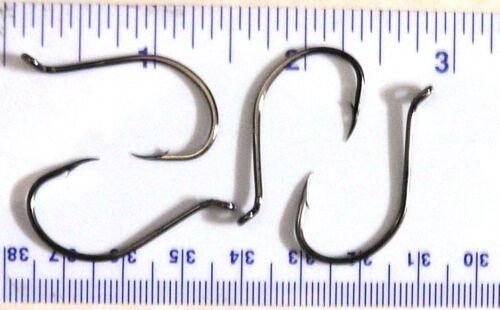 100 Matzuo 113010 Black Chrome Up Eye Octopus Fish Fishing Hooks 3//0 413014