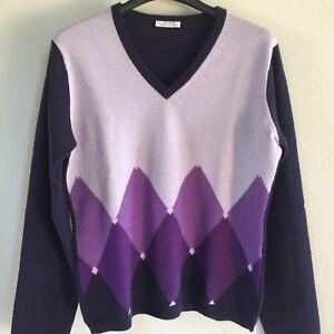 selezione migliore 52f4a 03ccf Dettagli su BALLANTYNE maglia maglioncino donna rombi Cashmere