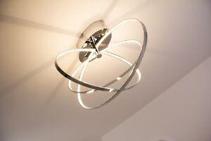 Plafoniere Da Soffitto Design : Led plafoniera lampada da soffitto design anelli metallo cromo