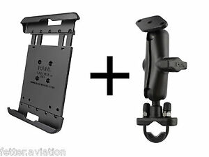 online store 3d56d d5a60 Details about RAM Motorcycle Handlebar Mount for iPad Mini Versions 1-3,  use w/Lifeproof Case