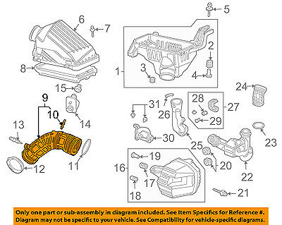 Acura HONDA OEM 04-05 TSX Air Cleaner Intake-Duct Hose Tube 06172RBB305 |  eBay | Tsx Engine Hose Diagram |  | eBay