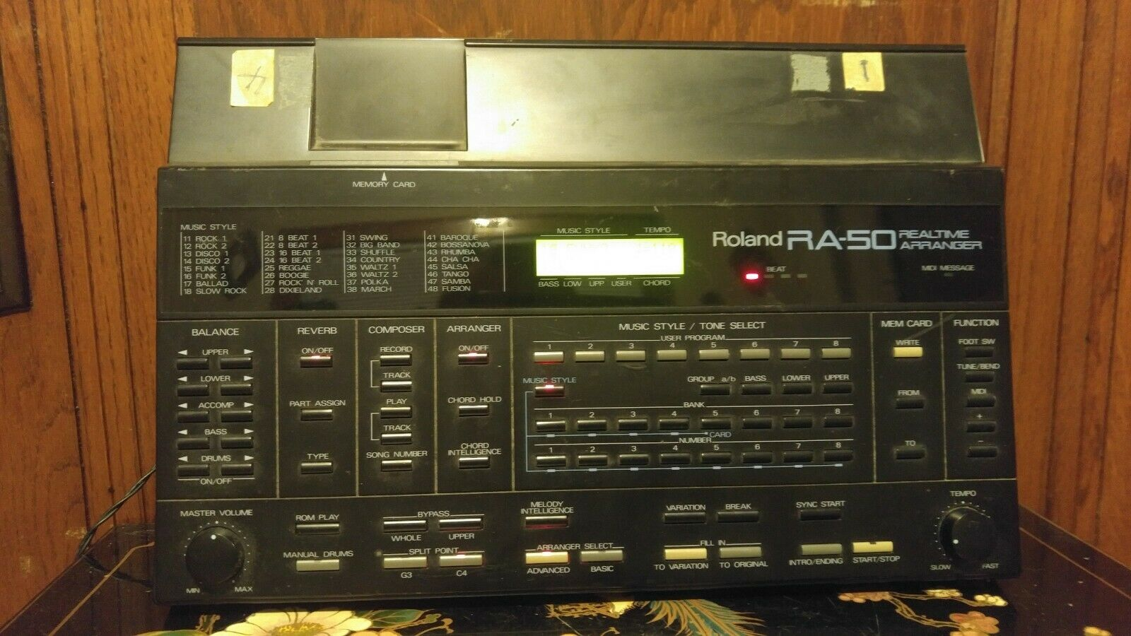 Roland RA-50 REAL TIME ARRANGER MIDI Expander