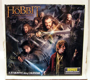 2014-THE-HOBBIT-AN-UNEXPECTED-JOURNEY-16-Month-Calendar-NEW-HOBUCA02