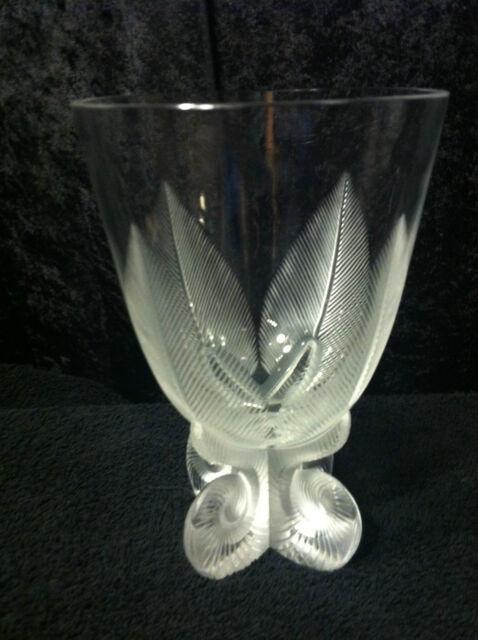 Lalique Osmonde Fern Leaf Frosted Vase