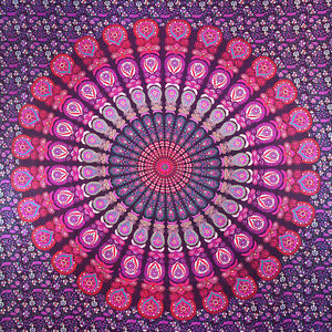 Twin Hippie Indian Tapestry Blue Mandala Throw Wall Hanging Gypsy ... 918e78a553