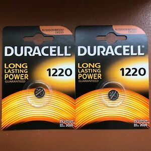 2-x-Duracell-CR1220-3-Volt-Lithium-Coin-Cell-Battery-1220-DL1220-Longest-Expiry