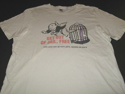 Inspired Shirt Monopoly Get Out Of Jail Free Funny Humor T-Shirt S-3XL Adult Tee