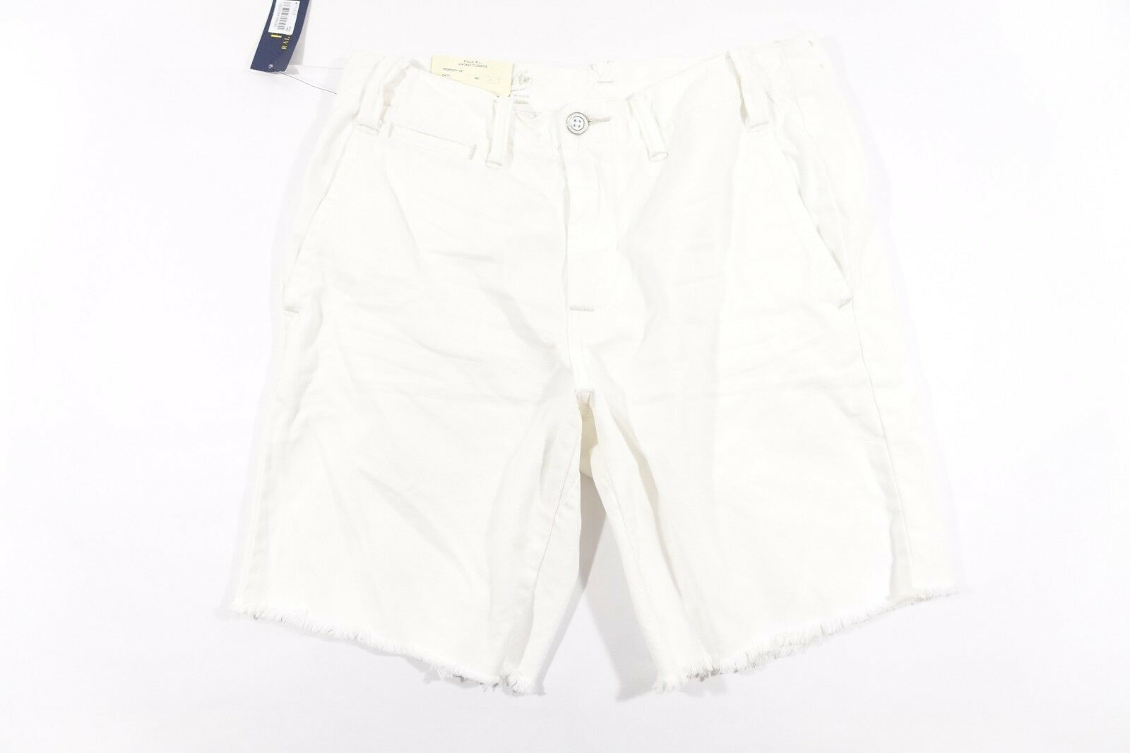 RALPH LAUREN POLO DRY GOODS WHITE 40 STRAIGHT FIT SHORTS MENS NWT NEW