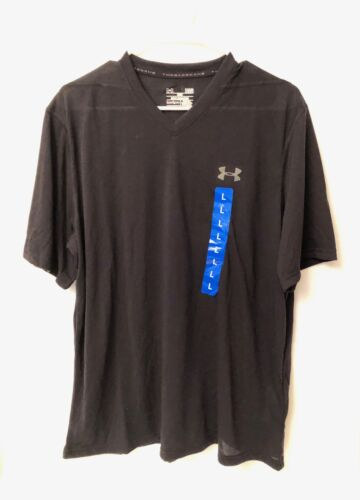 NWT Under Armour Loose Fit Black Heat Gear Tee Men/'s Large