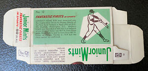 Mickey Mantle 1969 Junior Mints Fantastic Firsts Card Uncut Complete Box RARE