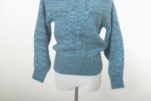 Sweater Xs Shoulder Blue Anthropologie Taglia Knit The Sleeping On Snow Off TxIUzB
