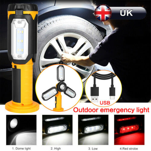 COB Work LED Light USB Rechargeable Magnetic Outdoor Inspection Lamp Hand Torch