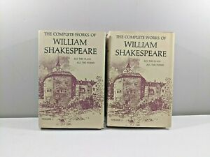 VTG-Complete-Works-of-William-Shakespeare-Plays-Poems-Vol-1-amp-2-Set-Hard-Cover