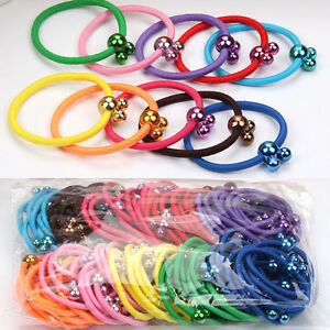 100x-Baby-Kids-Girl-Elastic-Hair-Bands-Ponytail-Holder-Mickey-Head-Rope-Ties-Lot