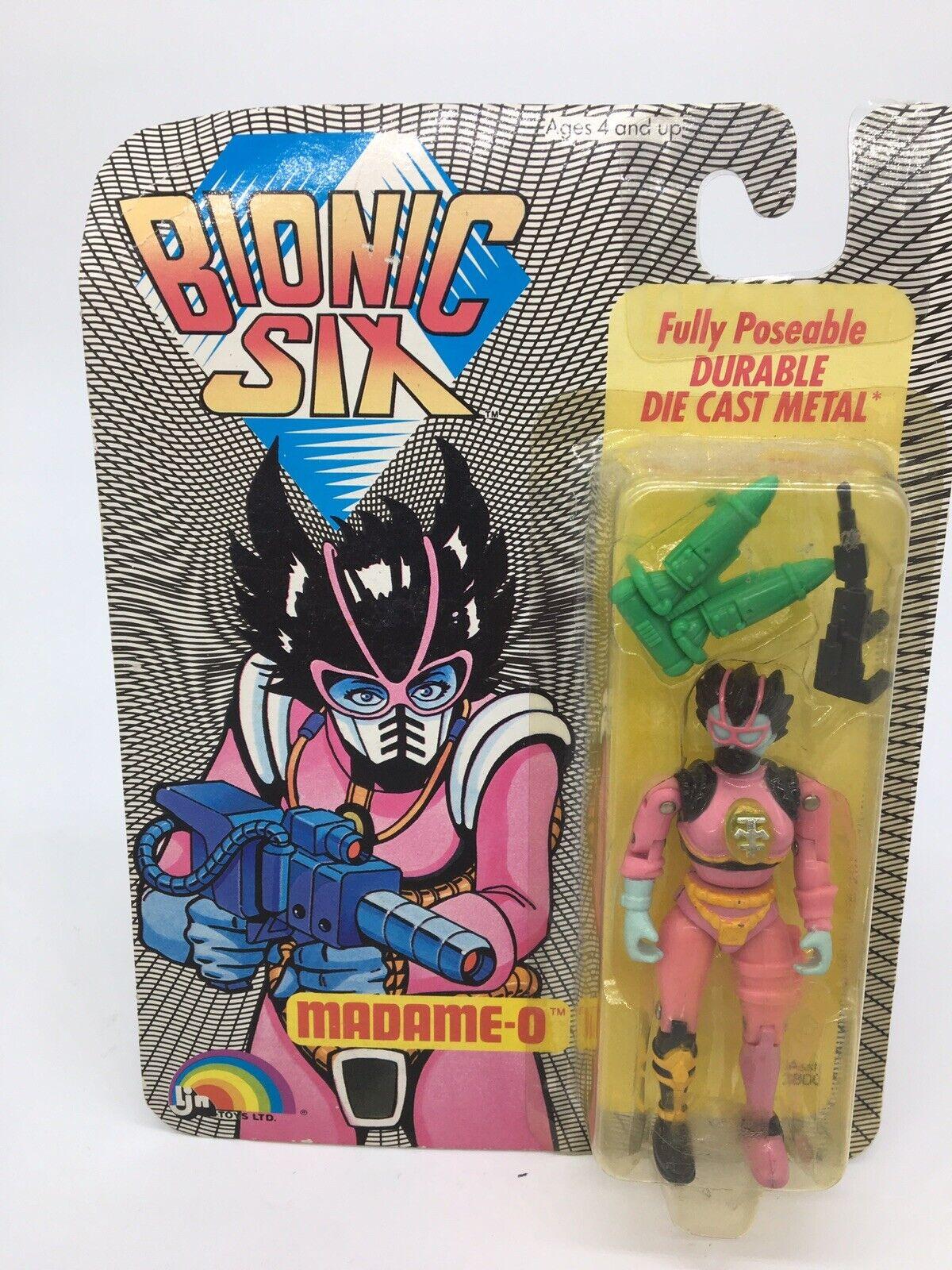 Vintage 1986 LJN TOYS Bionic seis Diecast Figura Madame o