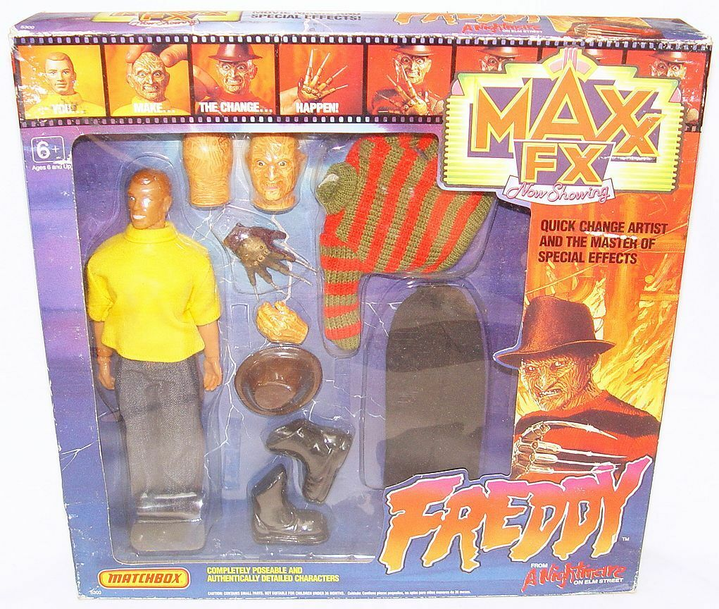 Matchbox Maxx FX A NIGHTMARE ON ELM STREET FrotDY KRUEGER 9  Figure MIB`89 RARE