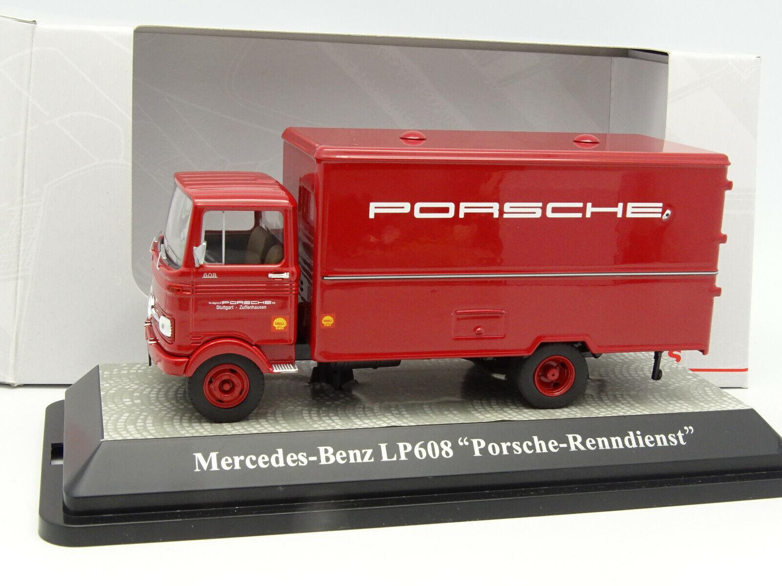 Premium classixxs 1 43 - mercedes lp 608 porsche renndienst