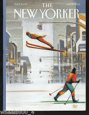 "The New Yorker Magazine January 10, 2011 ""Blizzard"" by Lorenzo Mattotti  Exc."