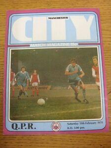 11-02-1978-Manchester-City-v-Queens-Park-Rangers-Footy-Progs-Bobfrankandelvis
