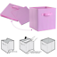 6 X Foldable Storage Collapsible Box Home Clothes Organizer Fabric Cube Pink