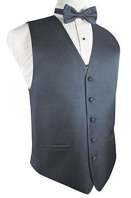 Herringbone Tuxedo Vest and Tie Sets - Choose from a Wide Variety of Colors