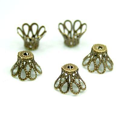 Antique bronze filigree bead cap - approximately 100 pcs