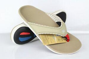 Spenco-Women-039-s-Candy-Stripe-Thong-Flip-Flop-Sandals-Tan