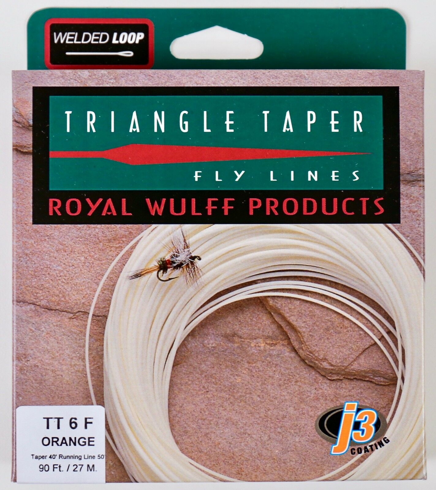 Royal Wulff Triangle Taper 6 WT Floating Fly Line Orange Free Fast Ship TT6FO