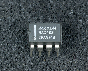 MAX483CPA-Low-Power-Slew-Rate-Limited-RS-485-RS-422-Transmitter-Rec-Maxim-DIP-8