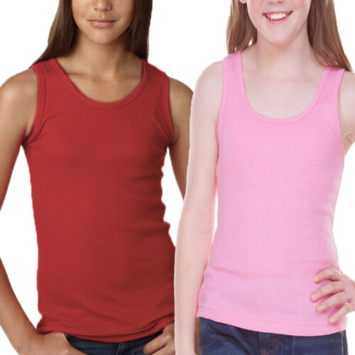 Girls Cotton Tank Top Pack of 2 Little Girls/' Ribbed Tank Top