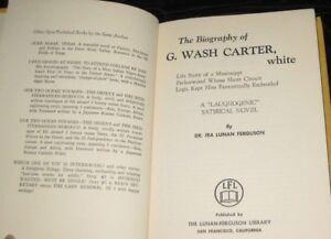 BIOGRAPHY-of-G-WASH-CARTER-WHITE-SIGNED-Ferguson-Story-Mississippi-Peckerwood
